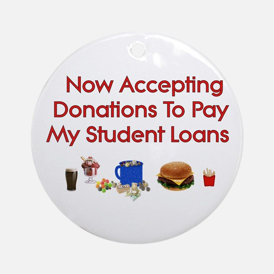 Student Loan Donations Ornament (Round)