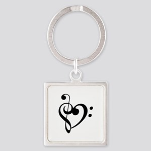 Treble Heart Keychains
