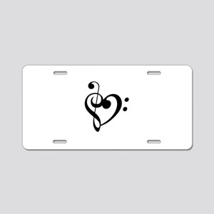 Treble Heart Aluminum License Plate
