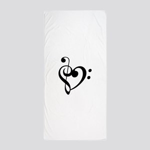 Treble Heart Beach Towel