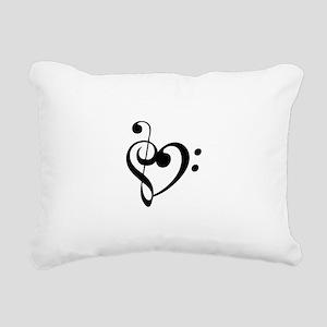 Treble Heart Rectangular Canvas Pillow