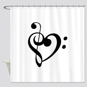 Treble Heart Shower Curtain