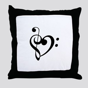 Treble Heart Throw Pillow