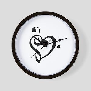 Treble Heart Wall Clock