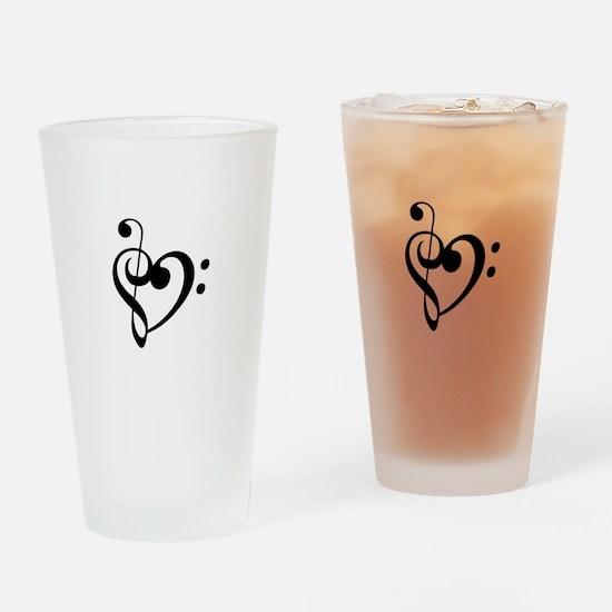 Treble Heart Drinking Glass