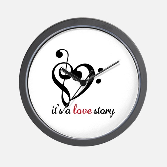 Its A Love Story Wall Clock