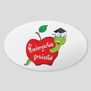 Kindergarten Graduate Sticker (Oval)