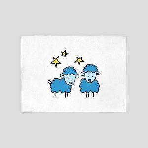 Star Sheep 5'x7'Area Rug