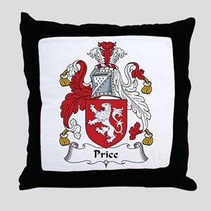 Price (Wales) Throw Pillow
