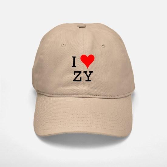 I Love ZY Baseball Baseball Cap