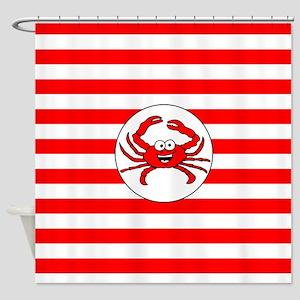 Cartoon Crab Shower Curtain