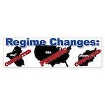 Regime Changes Bumper Sticker