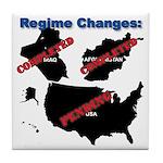 Regime Changes Tile Coaster