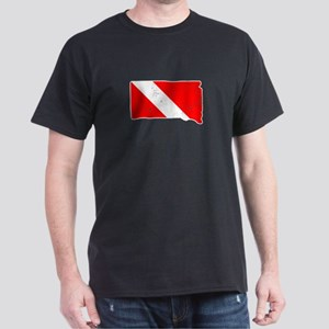 South Dakota Scuba Dive Flag Diver Down Fl T-Shirt