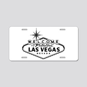 Welcome To Las Vegas Sign Aluminum License Plate
