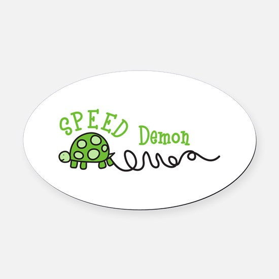 Speed Demon Oval Car Magnet