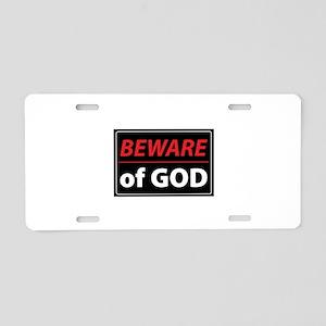 BEWARE OFGOD Aluminum License Plate
