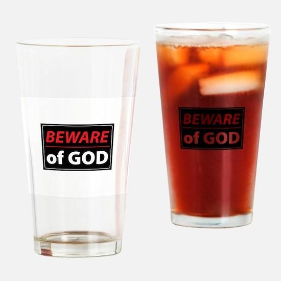 BEWARE OFGOD Drinking Glass