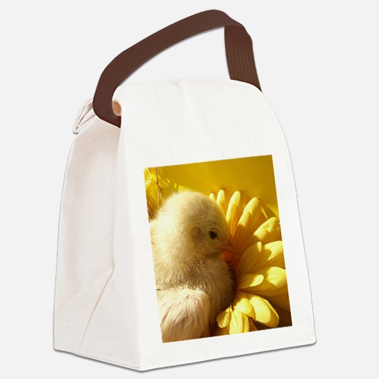 chicken chick in a flower Canvas Lunch Bag