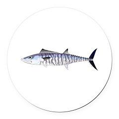 Narrow-barred Spanish Mackerel Round Car Magnet