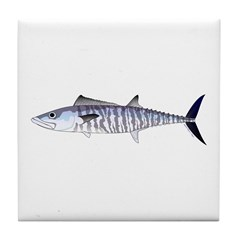 Narrow-barred Spanish Mackerel Tile Coaster