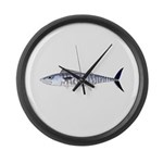 Narrow-barred Spanish Mackerel Large Wall Clock