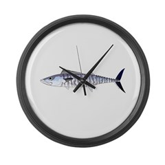 Narrow-barred Spanish Mackerel Large Wall Clock