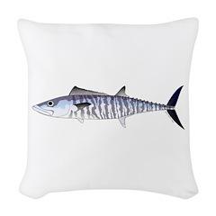 Narrow-barred Spanish Mackerel Woven Throw Pillow