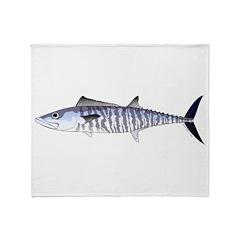 Narrow-barred Spanish Mackerel Throw Blanket