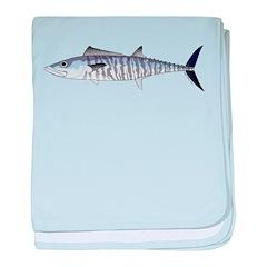 Narrowbarred Spanish Mackerel C baby blanket