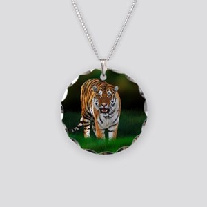 Tiger on Green Necklace
