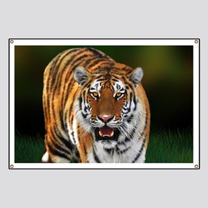 Tiger on Green Banner