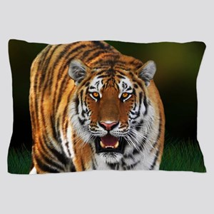 Tiger on Green Pillow Case