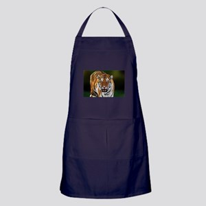 Tiger on Green Apron (dark)