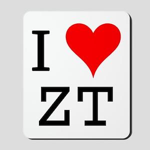 I Love ZT Mousepad