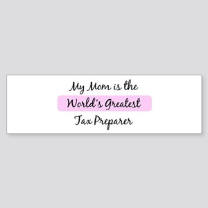 Worlds Greatest Tax Preparer Bumper Sticker