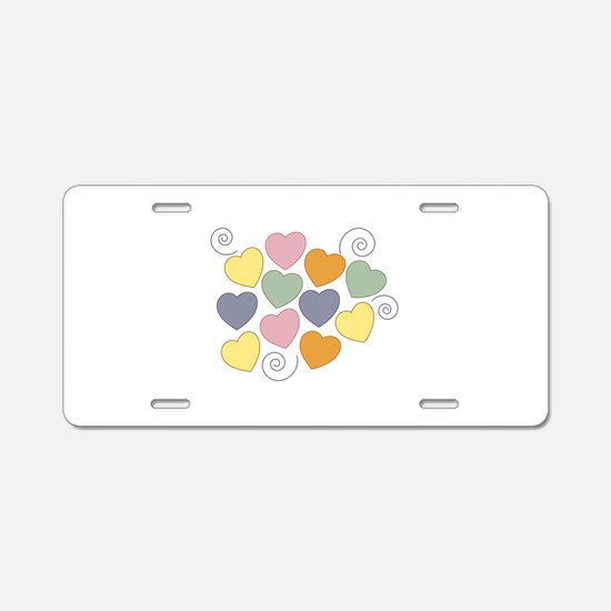 Colorful Heart Aluminum License Plate