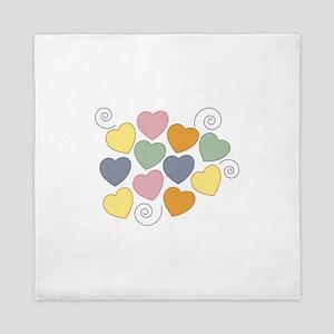 Colorful Heart Queen Duvet