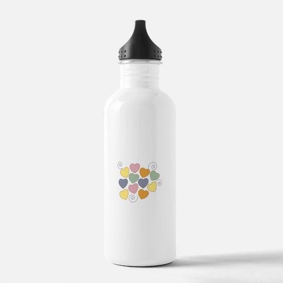 Colorful Heart Water Bottle