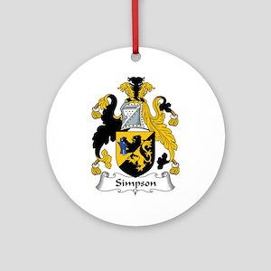 Simpson Ornament (Round)