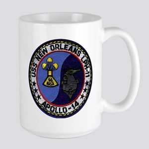 USS New Orleans & Apollo 14 Large Mug