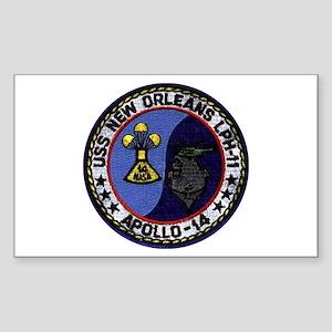USS New Orleans & Apollo 14 Sticker (Rectangle)