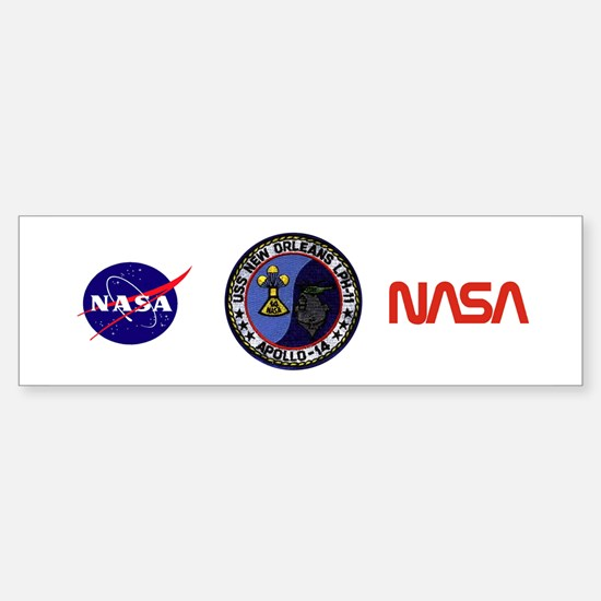 USS New Orleans & Apollo 14 Sticker (Bumper)
