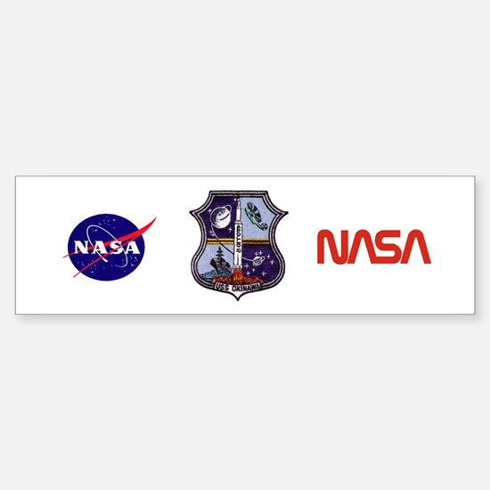 USS Okinawa & Apollo 15 Sticker (Bumper)