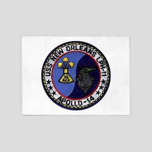 USS New Orleans & Apollo 14 5'x7'Area Rug