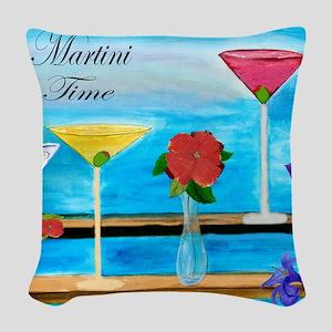 Martini Time Art Woven Throw Pillow