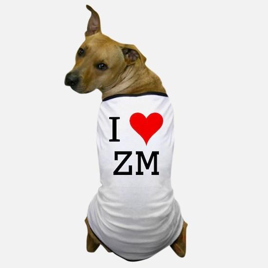 I Love ZM Dog T-Shirt