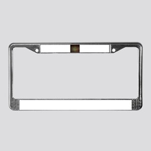 modern woodgrain country decor License Plate Frame