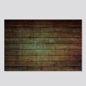 modern woodgrain country decor Postcards (Package