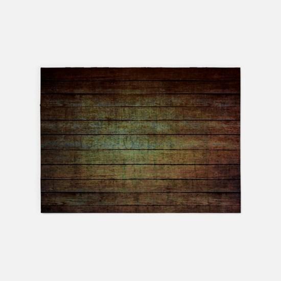 modern woodgrain country decor 5'x7'Area Rug